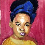 Black Baby Girl - Oil